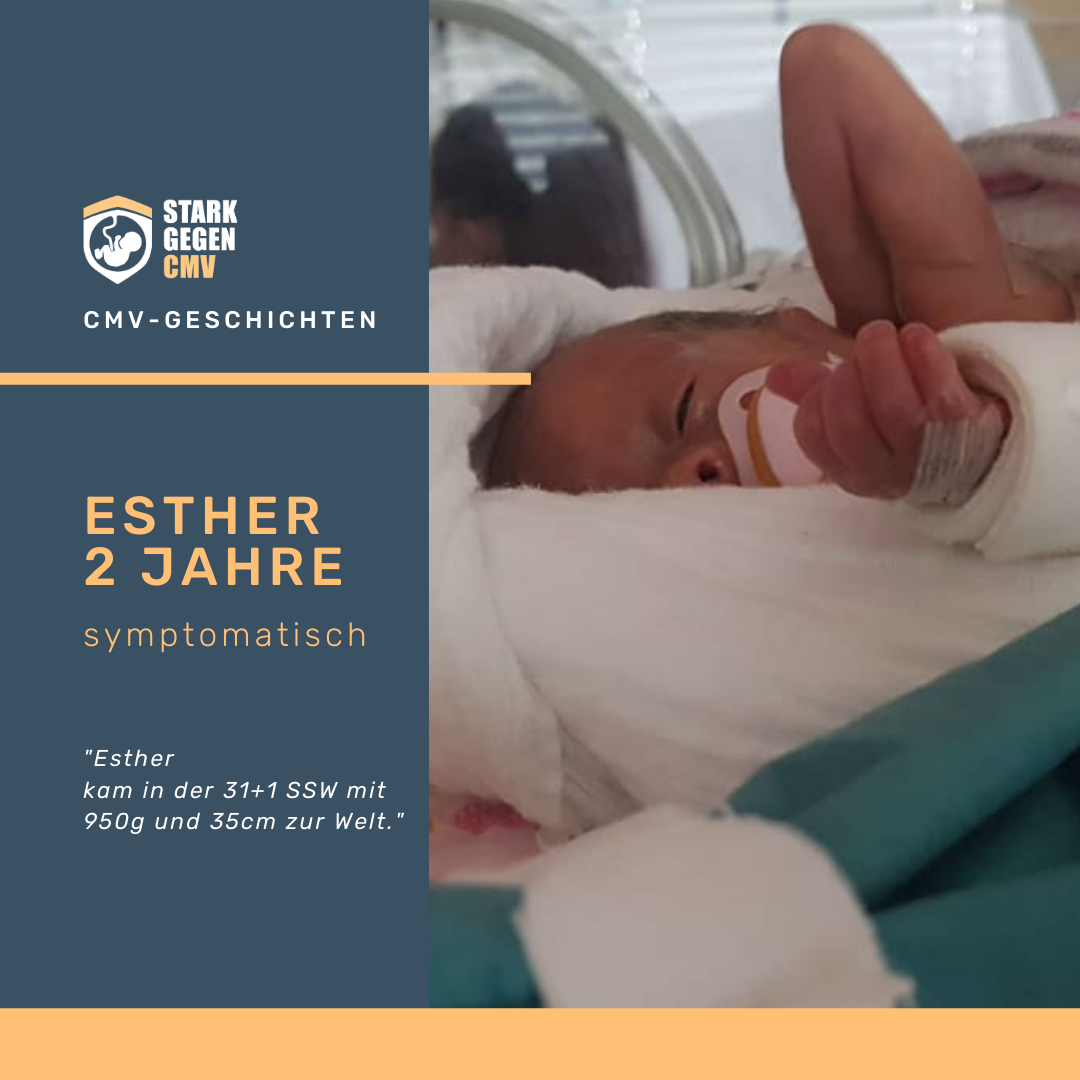 Esther, 2 Jahre, symptomatisch