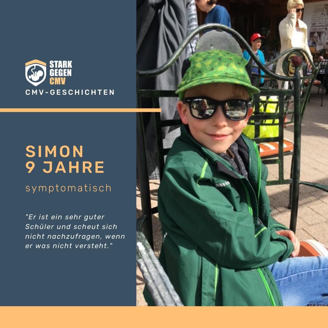 Simon, 9 Jahre, symptomatisch