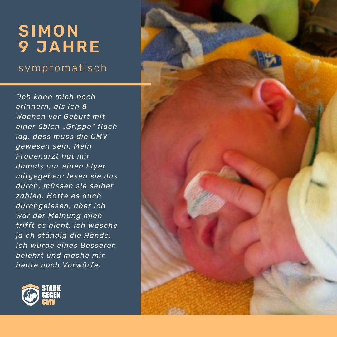 Simon, 9 Jahre, CMV symptomatisch