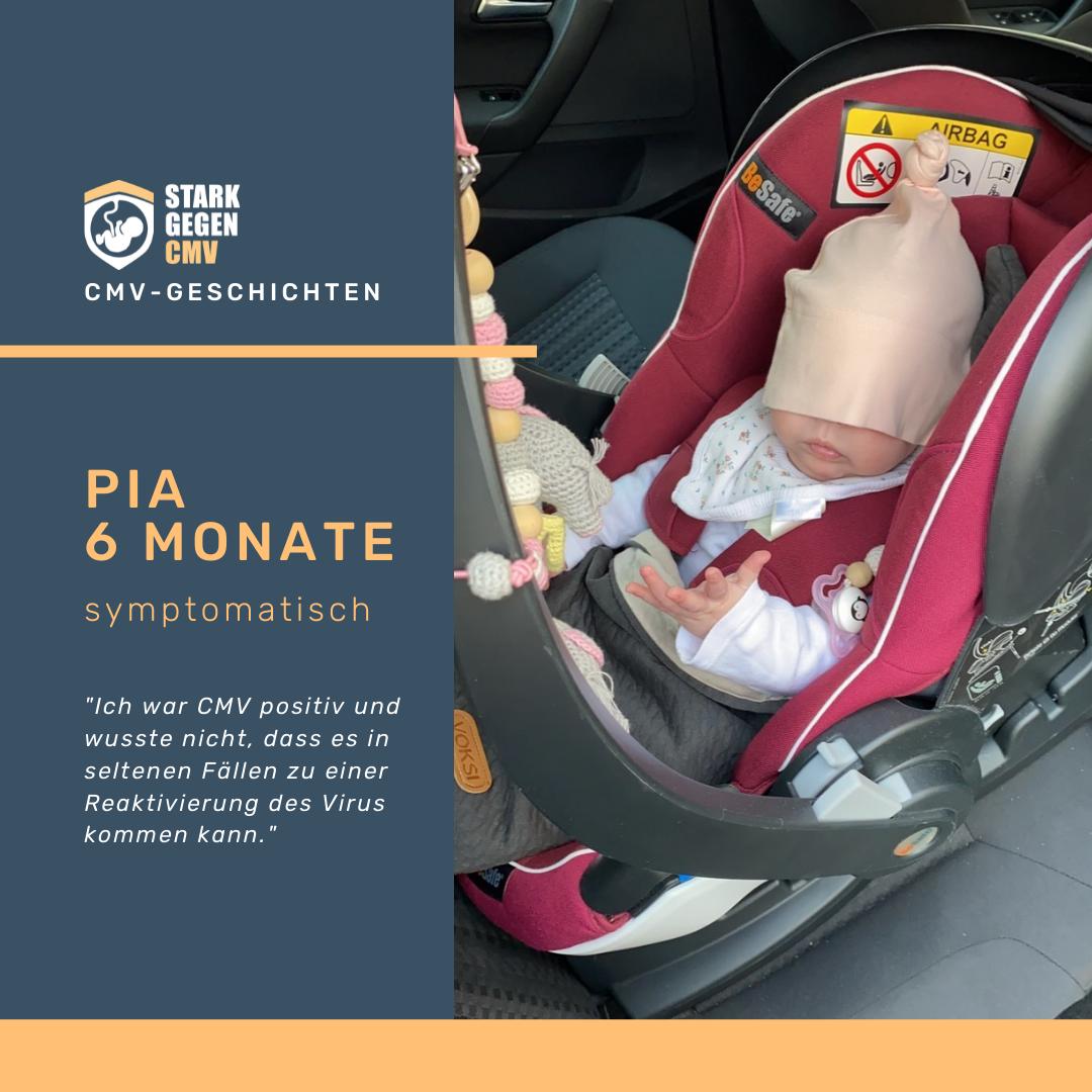 Pia, 6 Monate, symptomatisch