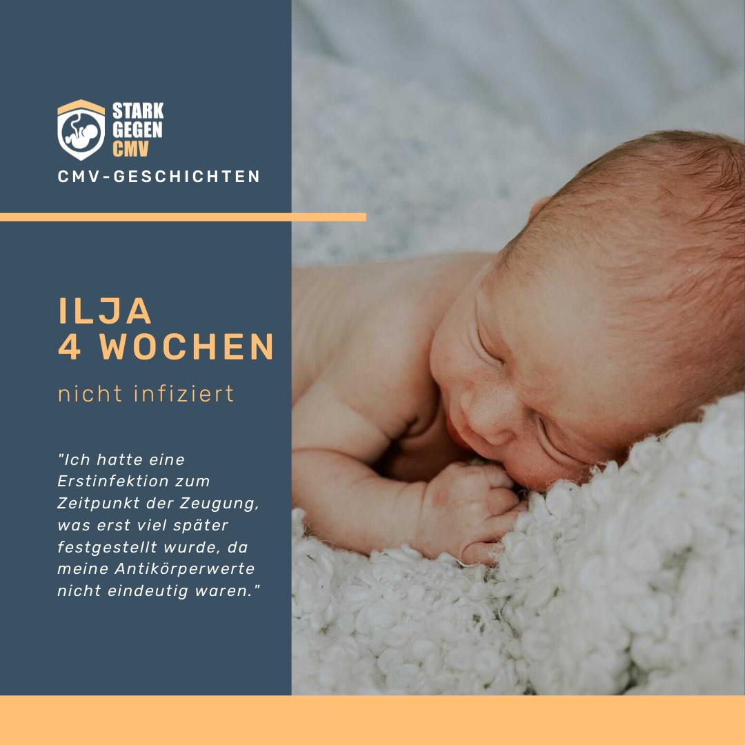 Ilja, 4 Wochen, nicht infiziert